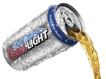 Coors Light Pour